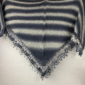 Gestreepte sjaal marineblauw