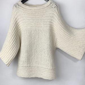 witte gebreide pullover voor dames