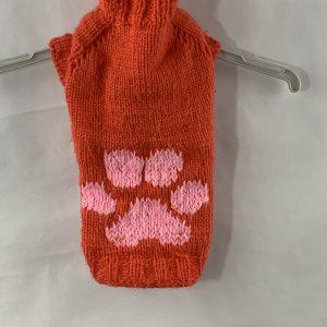 Rode pull met een honden voet