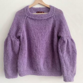 paars gebreide trui voor dames