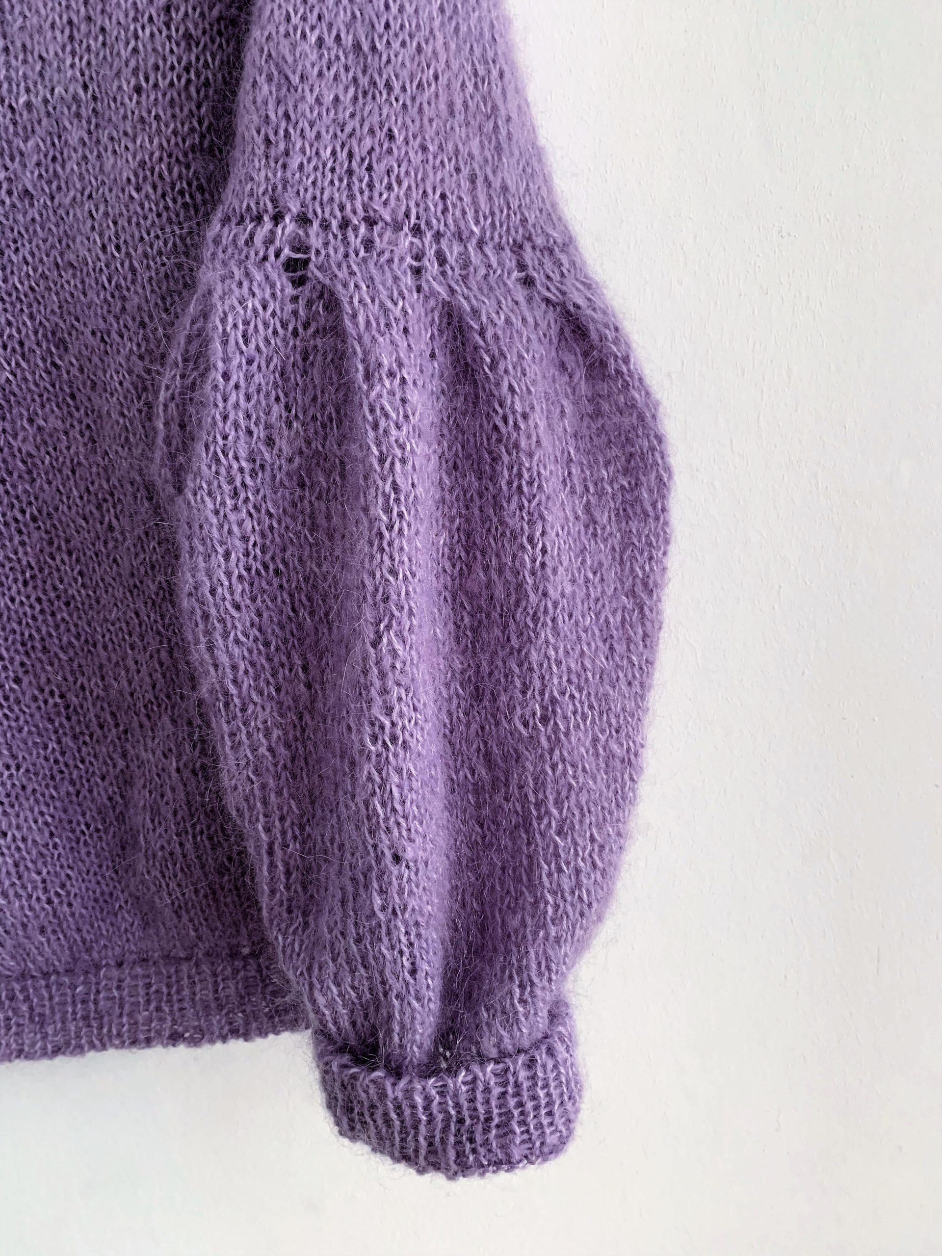 Paarse gebreide trui dames Gebreide winter mode 2020 2021